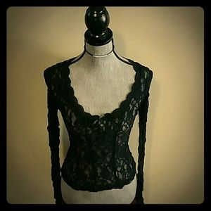Express - Black Lace Blouse